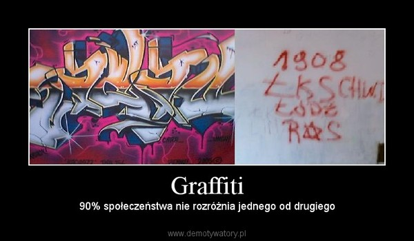 Graffiti – 90% społeczeństwa nie rozróżnia jednego od drugiego