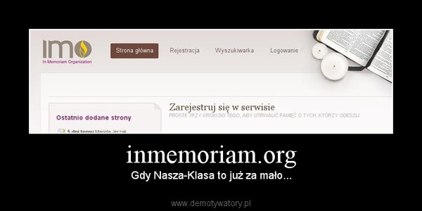 inmemoriam.org – Gdy Nasza-Klasa to już za mało...