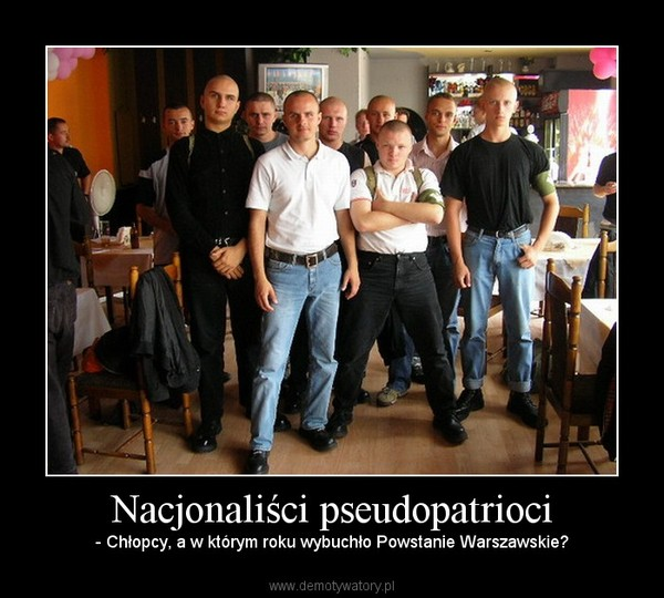 Nacjonaliści pseudopatrioci – - Chłopcy, a w którym roku wybuchło Powstanie Warszawskie?