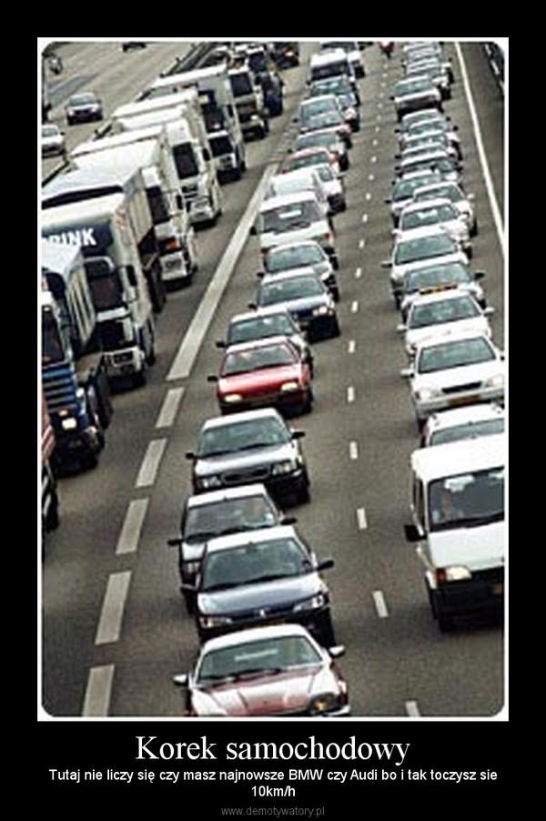 Korek samochodowy – Tutaj nie liczy się czy masz najnowsze BMW czy Audi bo i tak toczysz sie10km/h