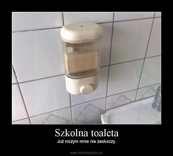 Szkolna toaleta – Już niczym mnie nie zaskoczy.