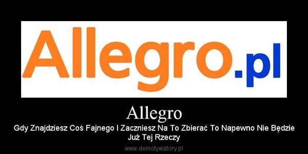 Allegro – Gdy Znajdziesz Coś Fajnego I Zaczniesz Na To Zbierać To Napewno Nie BędzieJuż Tej Rzeczy