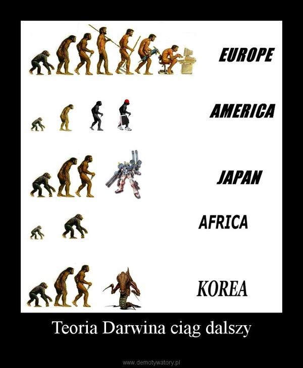 Teoria Darwina ciąg dalszy –