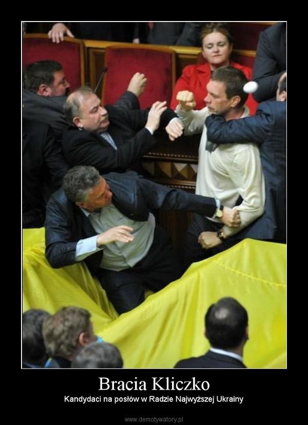 Bracia Kliczko – Kandydaci na posłów w Radzie Najwyższej Ukrainy