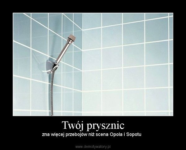 Twój prysznic –  zna więcej przebojów niż scena Opola i Sopotu