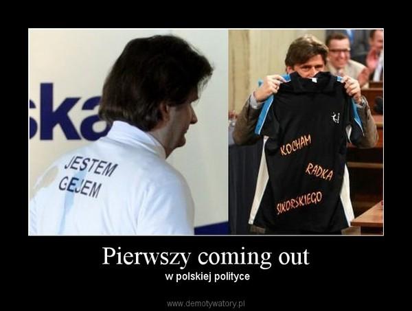 Pierwszy coming out –  w polskiej polityce