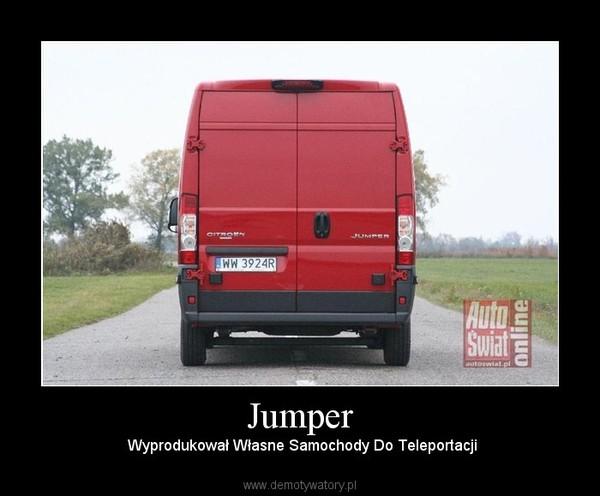 Jumper –  Wyprodukował Własne Samochody Do Teleportacji