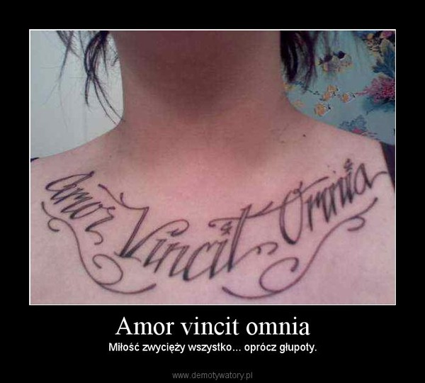 Amor Vincit Omnia Demotywatorypl