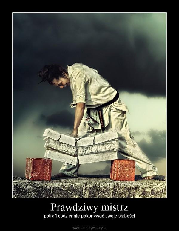 Prawdziwy mistrz – potrafi codziennie pokonywać swoje słabości
