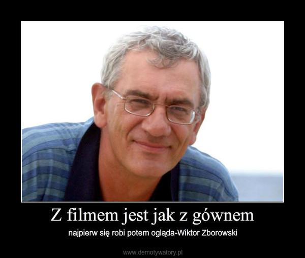 Z filmem jest jak z gównem – najpierw się robi potem ogląda-Wiktor Zborowski