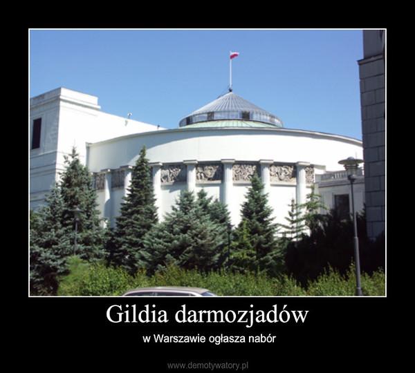 Gildia darmozjadów – w Warszawie ogłasza nabór