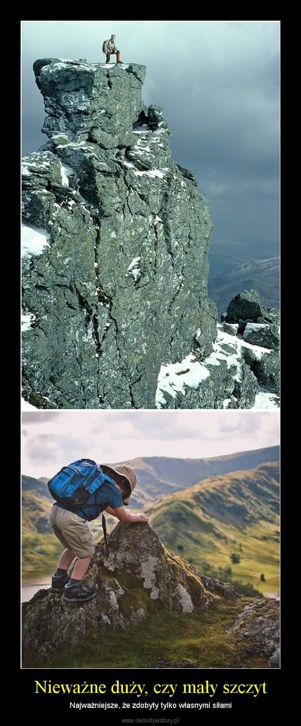 Nieważne duży, czy mały szczyt – Najważniejsze, że zdobyty tylko własnymi siłami
