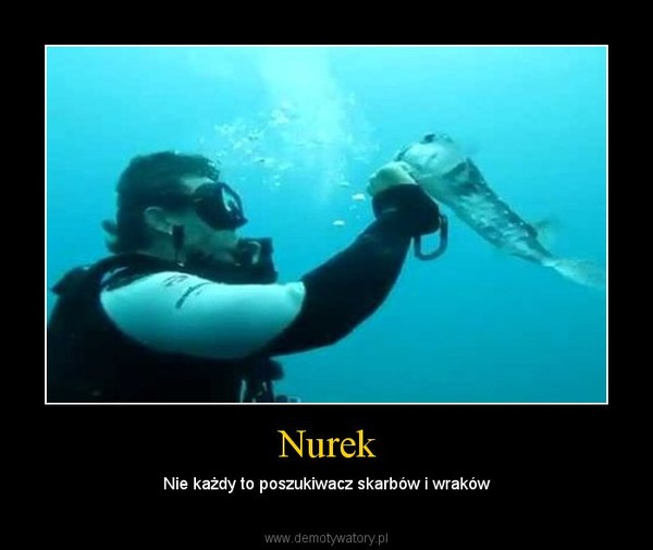 Nurek – Nie każdy to poszukiwacz skarbów i wraków