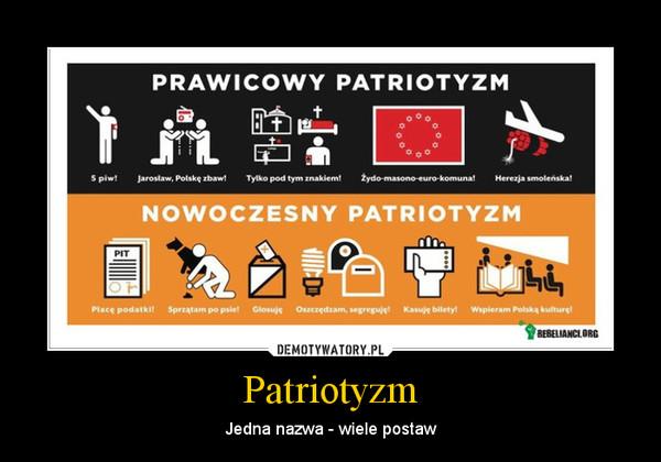 Patriotyzm – Jedna nazwa - wiele postaw