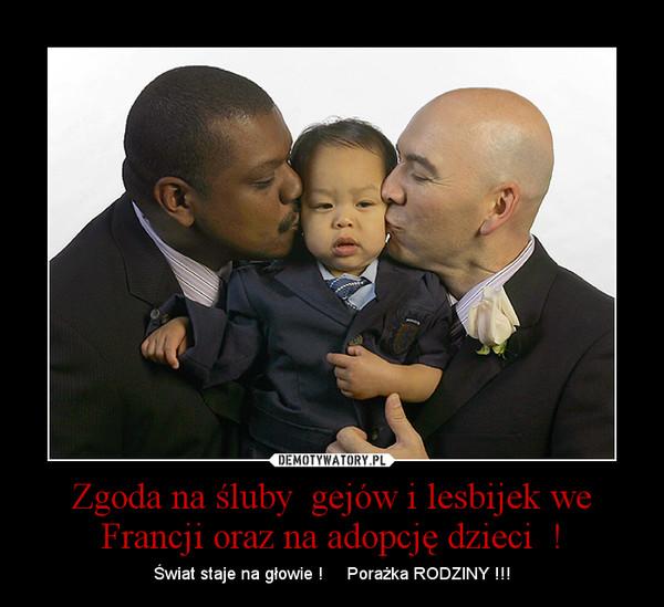 Zgoda Na śluby Gejów I Lesbijek We Francji Oraz Na Adopcję Dzieci