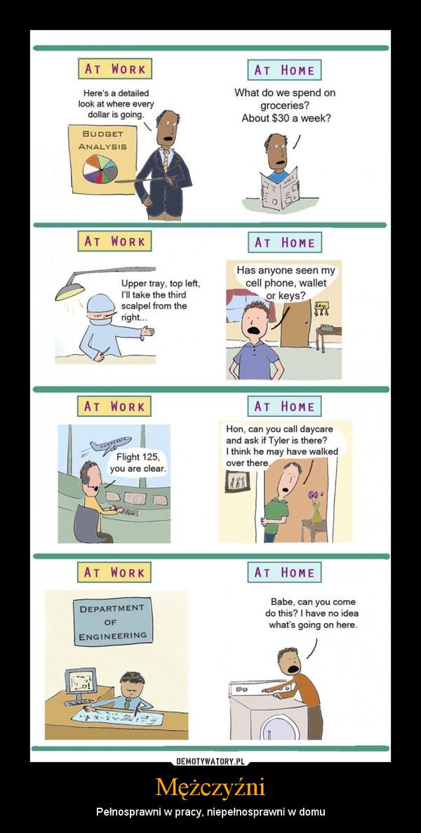 Mężczyźni – Pełnosprawni w pracy, niepełnosprawni w domu
