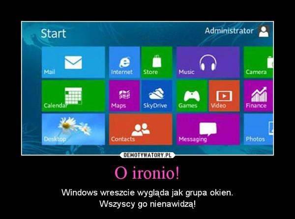 O ironio! – Windows wreszcie wygląda jak grupa okien.Wszyscy go nienawidzą!