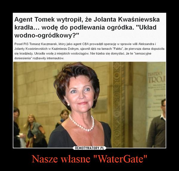 """Nasze własne """"WaterGate"""" –"""