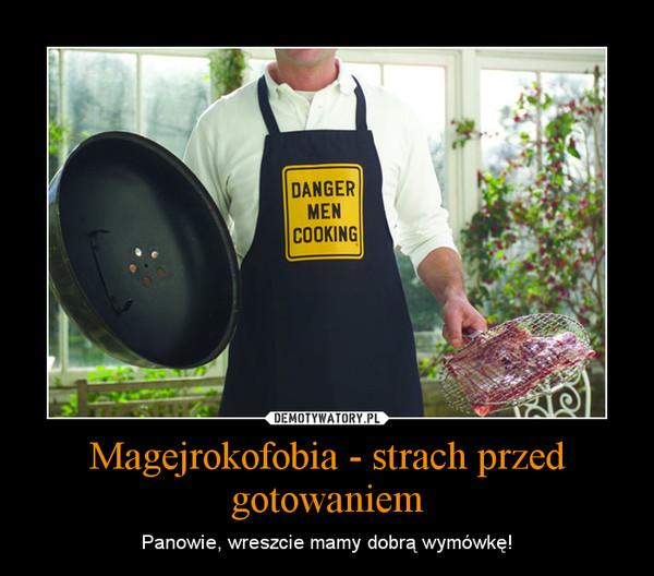 Magejrokofobia - strach przed gotowaniem – Panowie, wreszcie mamy dobrą wymówkę!