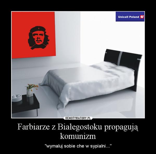 """Farbiarze z Białegostoku propagują komunizm – """"wymaluj sobie che w sypialni..."""""""