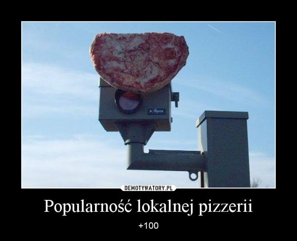 Popularność lokalnej pizzerii – +100
