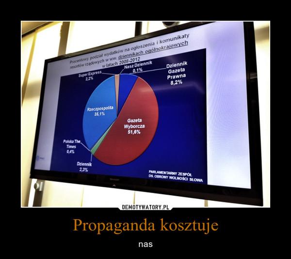 Propaganda kosztuje – nas