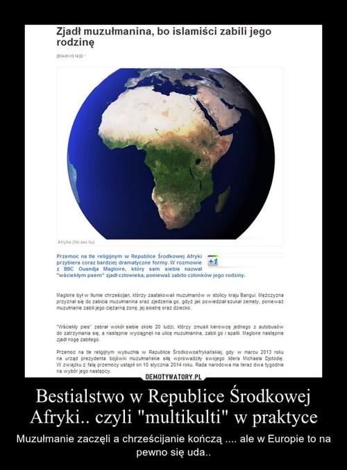 """Bestialstwo w Republice Środkowej Afryki.. czyli """"multikulti"""" w praktyce"""