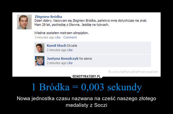 1 Bródka = 0,003 sekundy – Nowa jednostka czasu nazwana na cześć naszego złotego medalisty z Soczi