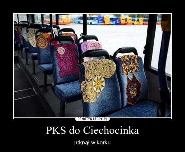 PKS do Ciechocinka – utknął w korku