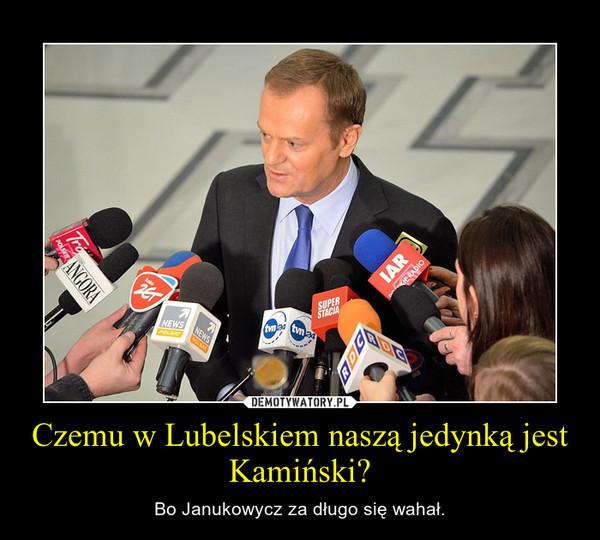 Czemu w Lubelskiem naszą jedynką jest Kamiński? – Bo Janukowycz za długo się wahał.