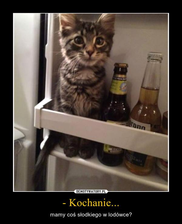 - Kochanie... – mamy coś słodkiego w lodówce?
