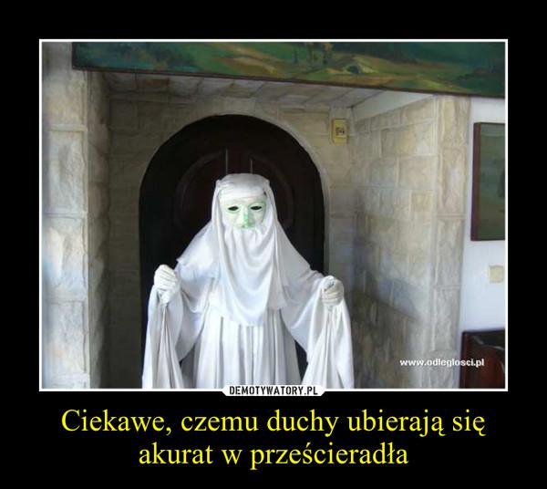 Ciekawe, czemu duchy ubierają się akurat w prześcieradła –