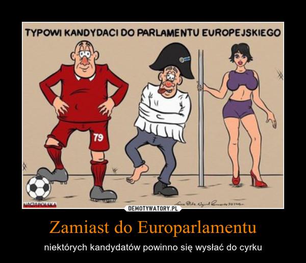 Zamiast do Europarlamentu – niektórych kandydatów powinno się wysłać do cyrku