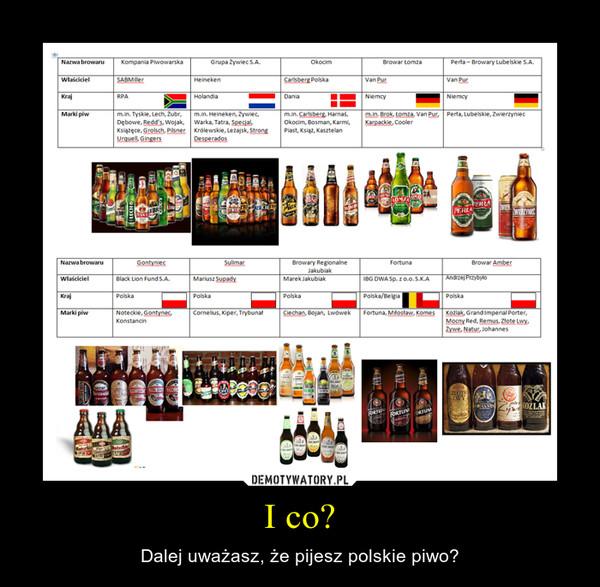 I co? – Dalej uważasz, że pijesz polskie piwo?