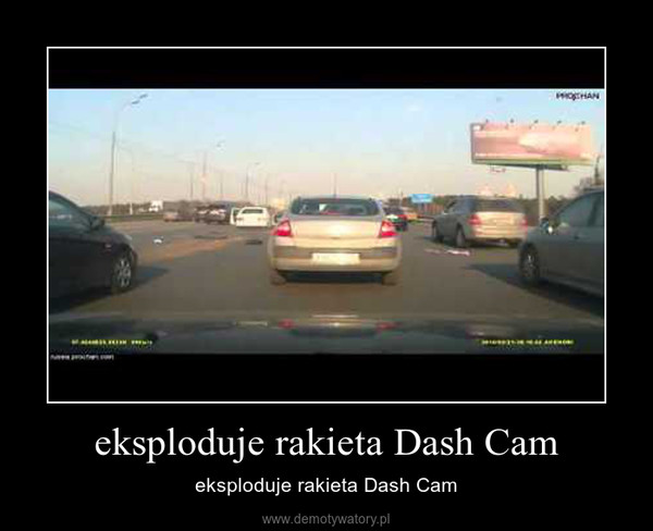 eksploduje rakieta Dash Cam – eksploduje rakieta Dash Cam