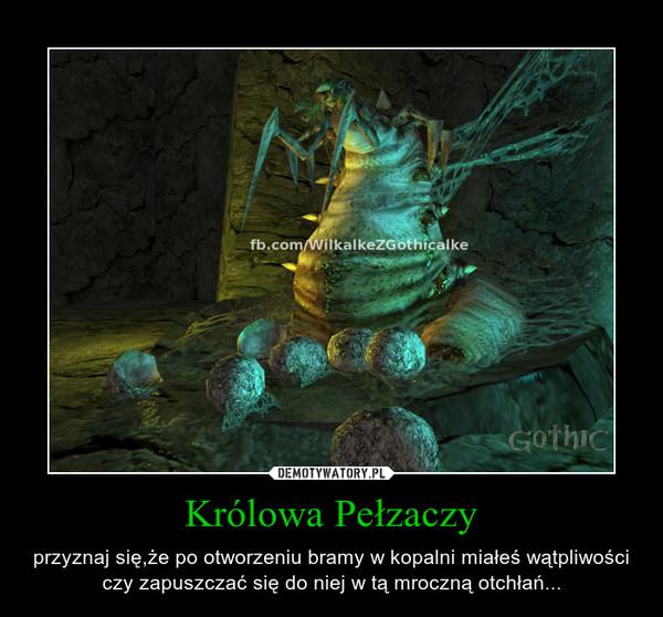 Królowa Pełzaczy – przyznaj się,że po otworzeniu bramy w kopalni miałeś wątpliwości czy zapuszczać się do niej w tą mroczną otchłań...