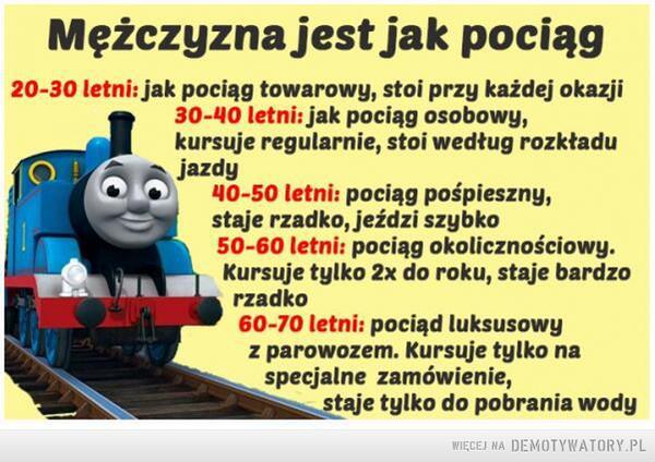 Mężczyzna niczym pociąg –