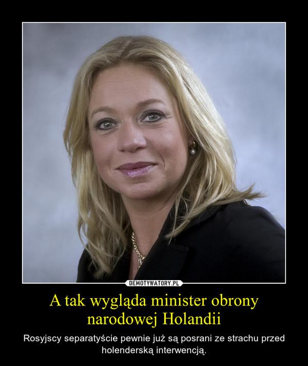 A tak wygląda minister obrony narodowej Holandii – Rosyjscy separatyście pewnie już są posrani ze strachu przed holenderską interwencją.