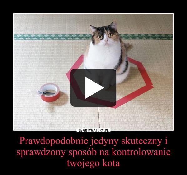 Prawdopodobnie jedyny skuteczny i sprawdzony sposób na kontrolowanie twojego kota –