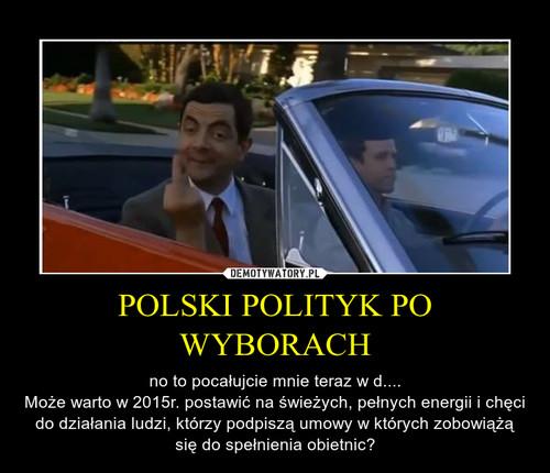 POLSKI POLITYK PO WYBORACH