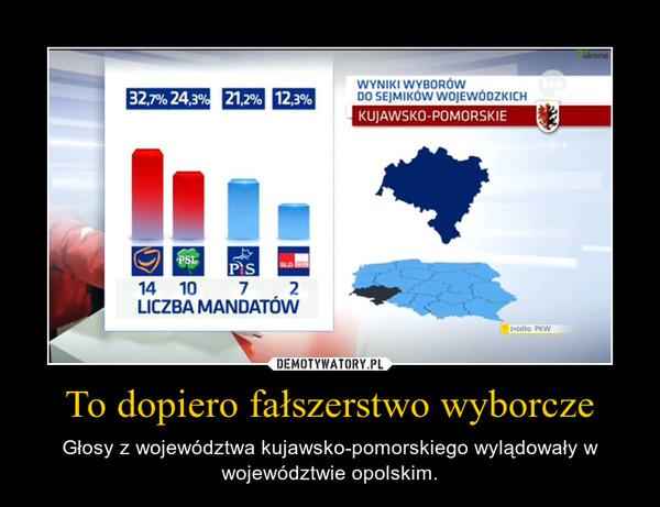 To dopiero fałszerstwo wyborcze – Głosy z województwa kujawsko-pomorskiego wylądowały w województwie opolskim.