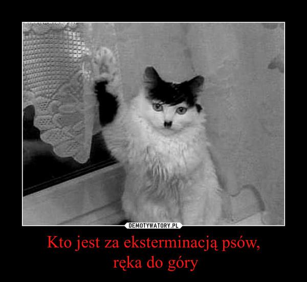 Kto jest za eksterminacją psów, ręka do góry –