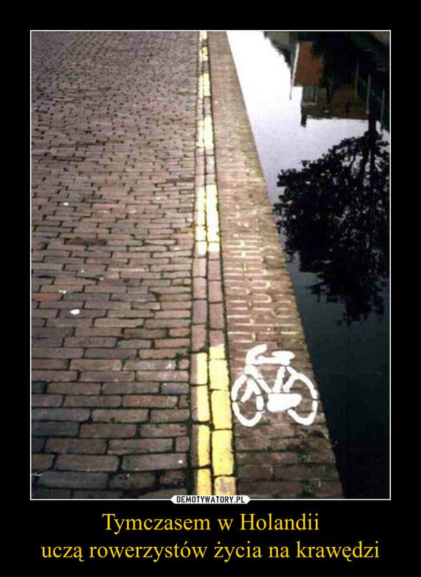 Tymczasem w Holandiiuczą rowerzystów życia na krawędzi –