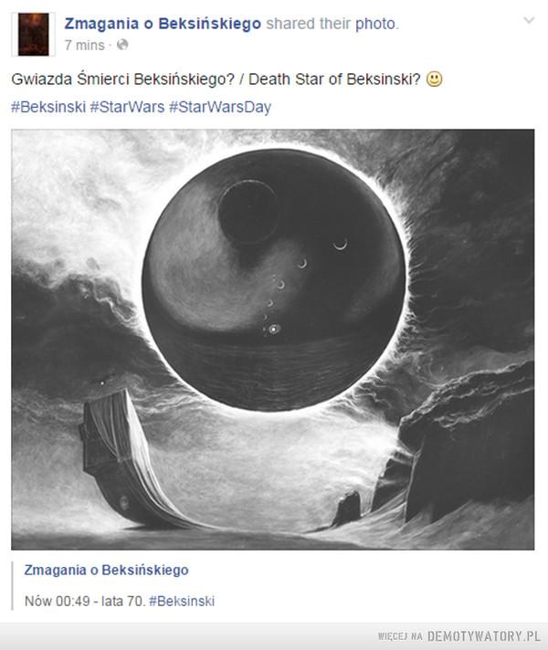 Gwiazda Śmierci Beksińskiego? –