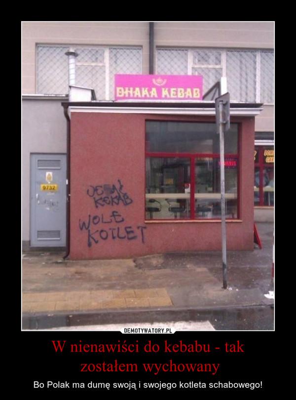 W nienawiści do kebabu - tak zostałem wychowany – Bo Polak ma dumę swoją i swojego kotleta schabowego!