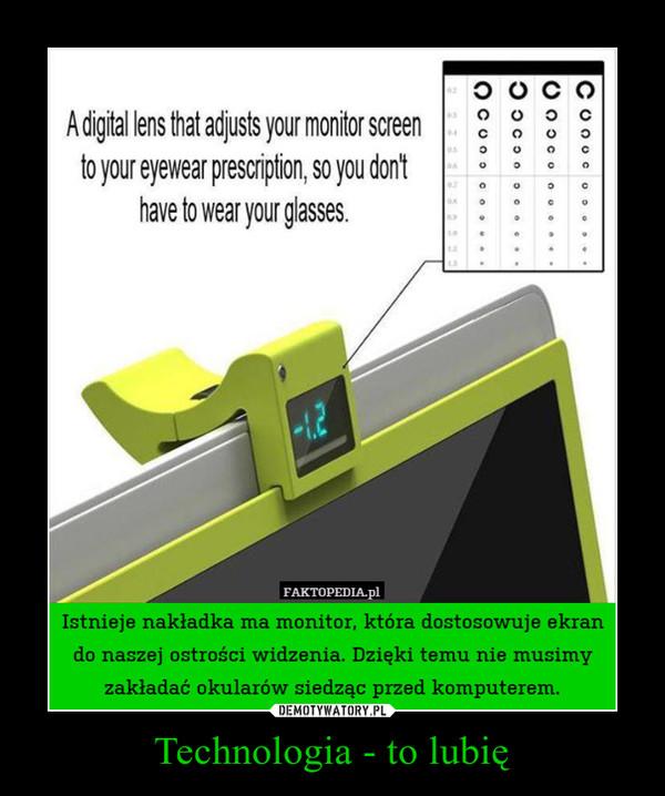 Technologia - to lubię –  Istnieje nakładka ma monitor, która dostosowuje ekran do naszej ostrości widzenia. Dzięki temu nie musimy zakładać okularów siedząc przed komputerem.