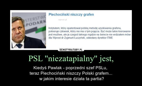 PSL ''niezatapialny'' jest, – Kiedyś Pawlak - poprzedni szef PSLu, teraz Piechociński niszczy Polski grafem... w jakim interesie działa ta partia?