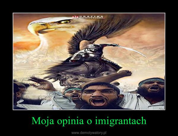 Moja opinia o imigrantach –