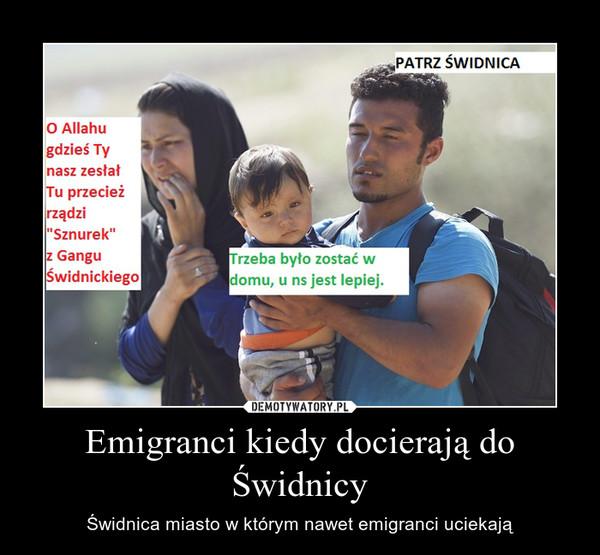 Emigranci kiedy docierają do Świdnicy – Świdnica miasto w którym nawet emigranci uciekają
