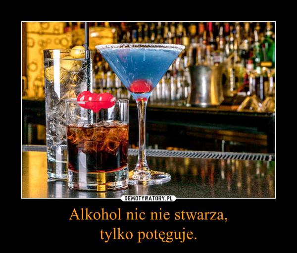 Alkohol nic nie stwarza,tylko potęguje. –
